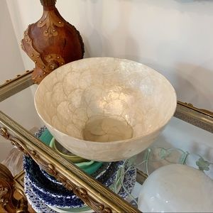 VTG Gump's Capiz Shell Decorative Serving Bowl